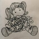 Magnolia EZ Mount Rubber Stamps Tilda with Peony Tails Cute Girl