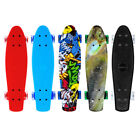 Pro Adult Kids 22 Complete Skateboard Deck Plastic Skate Board Ready to Ride US