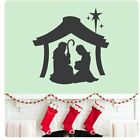 Joeseph Mary Jesus Nativity Scene Wall Decal Sticker Art Mural Home Dcor Quote