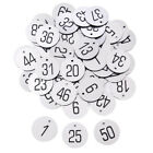 Numbered Tags W Key Ring Acrylic Id Tags For Organizing 50-100 Pieces Red 1-200