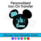 DISNEY PERSONALIZED IRON ON TRANSFER ANY COLOR CASTLE