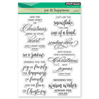 New Penny Black JOY  HAPPINESS Clear Stamps Christmas Verse Sentiment Wishes