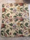 WAVERLY Laurel Springs Pillow Shams, King, Two (2) Floral & Butterfly