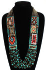 NE147 Glass Crystal Handmade Beaded Six Rugs Story Fancy Traditional Necklace