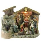 Nativity Set Scene Christmas Decor Tabletop Water Fountain With Warm White Light