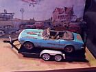 118 Scale Diecast 2 pcsetWeathered Rusted67 Chevy Camaro RS SS +Car Trailer