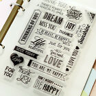 Love Sweet Letter Clear Rubber Stamps 4x6 inch Scrap Booking Diary Gift Cards