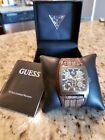 SUPER COOL GUESS MENS  WATCH Leather BROWN CUFF BAND