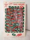 Vintage Christmas Garland Tinsel Pink Red and Green Holly Brand 18 Ft B Wilmsen