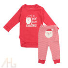 My First Christmas Baby Boys Girls Romper Bodysuit  Pants Clothes Outfits 3 12M