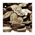Shaped Rustic Wooden Love Heart Crafts Wedding Table Scatter Decoration 500p