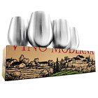 Stemless Wine Glasses Stainless Steel Set of 4 of 18 oz Cups Dishwasher Safe