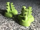 Fiesta Fiestaware Pyramid Candlestick Holders Chartreuse