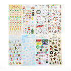 Lovely Christmas DIY PVC Clear Decor Stationery Stickers Scrapbook Toy Gift