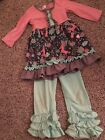Unicorn Unbranded girls Boutique Outfit Size L Approx 4 5t
