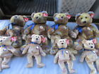 Lot Of 8 TY Beanie Baby Clubby III Bears Official Club 2000