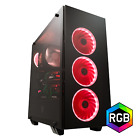 FSP ATX Mid Tower PC Computer Gaming Case with 5 RGB Lighting Modes CMT510