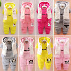 3pcs Kids Boy Girl Outfit Set Newborn Baby Cartoon Hoodie Thicker Winter Clothes