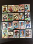 HOF STARS TOPPS BASEBALL CARDS FROM THE 70S  80S 50 CARD LOT ALL DIFFERENT