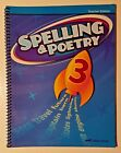 Abeka 3rd Grade Third Spelling  Poetry 3 Teacher Edition Answer Key Current EUC
