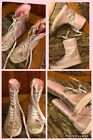 Childrens Place PINK  SILVER Sequin High Top Shoes Lace Zip Ankle Sneakers Sz 1