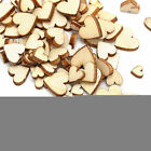 100pcs Rustic Wooden Love Heart Wedding Table Scatter Decoration Crafts xF