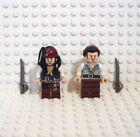 Lego Pirates Of The Caribbean Captain Jack Sparrow and Will Turner with Swords