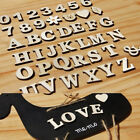 1set English Letters Numbers Wooden Wedding Party Home Paste Decor Crafts DIY