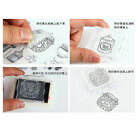 Flower Girl Scrapbooking Photo Card Transparent Silicone Rubber Stamps DIY Craft