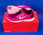 WOMENS NIKE FREE 50+ RUNNING SHOES SIZE 8 RASPBERRY RED WHITE FREE 50+