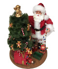 Kirkland Signature Fabric Mache Santa Trimming Christmas Tree Decoration