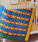 BASKETWEAVE Baby Quilt Pattern Piecing Assorted Prints from Magazine