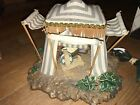 Fontanini Nativity Kings Tent 50153 Blue Striped 1996 Roman Inc Lighted 5 Scale
