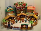 WOW HUGE LOT Fisher Price Little People Christmas  Nativity Village Sets