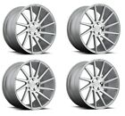 19 inch Niche Surge Silver Wheels Rims Staggered Fits Chevy Camaro SS Corvette