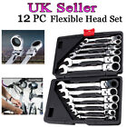 Professional 12pc Combination Spanners Ratchet Wrench Tool Set 8-19mm UK