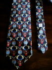 PIERRE BALMAIN Paris NECK TIE Black SILK Regal Design RICH SHARP Mens ITALY