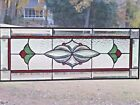 Red Green Stained glass and beveled transom