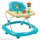 C3 Single Baby Blue Plastic Collapsible Comfortable 6 Wheels Baby Walker