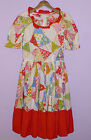 VINTAGE SQUARE DANCE DRESS 1960s-1970s HEE-HAW PATCHWORK QUILT PATTERN HANDMADE