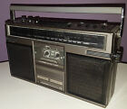 GENERAL ELECTRIC VINTAGE BOOMBOX GE 3-5252A RETRO 1980s PORTABLE CASSETTE RADIO