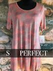 LuLaRoe LLR Perfect T Top Shirt Small S NWT Unicorn Heathered Pink Red