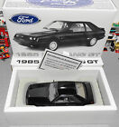 1985 Ford Mustang GT Fox Black Hatch GMP 118 Diecast Car  Box Only