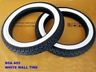 BSA A65 FIEBIRD SCRAMBLER & FIREBIRD SS F&R WHITE WALL TIRE SET DOT STD [mi4803]