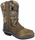 Smoky Mountain Boots Youth Boys Pawnee Brown Camo Leather Square Toe