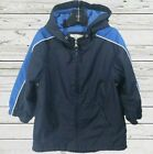 Childrens Place Boys Navy Blue Rain Jacket Size 4 Hooded Lined Water Resistant