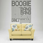 I156 Wall Decal Sticker Dance music player sound geometry disco wave volume