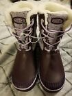 Keen Girls ELSA Purple Snow Rain Boots Shearling Sz6 Womens NEW NWOB