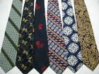 VINTAGE Designer 60s 70s 80s Polyester Neck Ties Lot of 15 Fat Fatty Wide EMO
