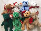 8 TY Holiday Beanie Baby Teddies 1997-2005 excellent condition